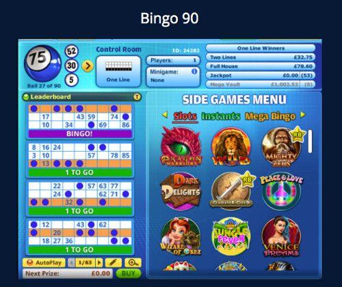 Bingo 90 big top casino