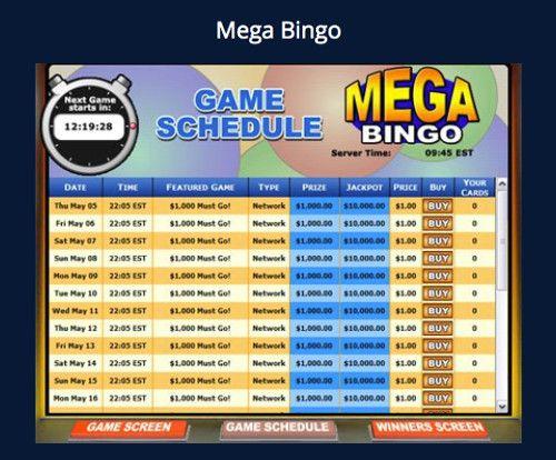Mega bingo big top casino