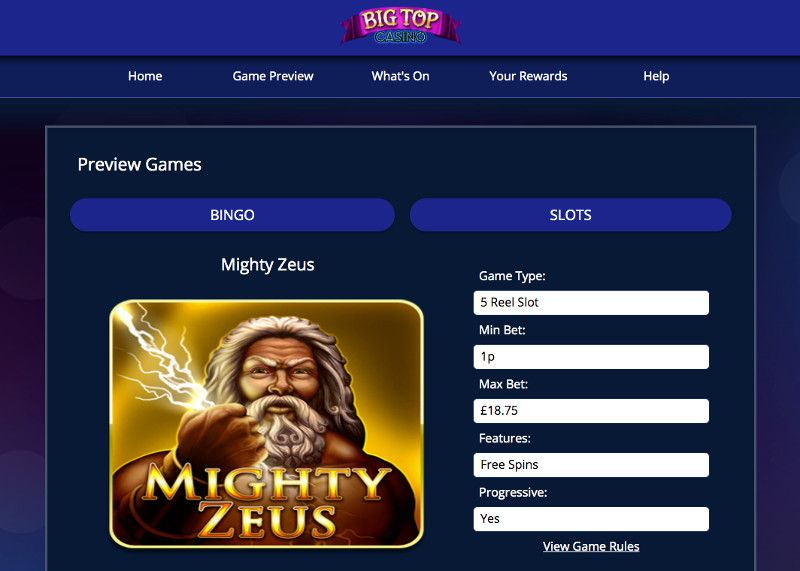 Mighty Zeus casino