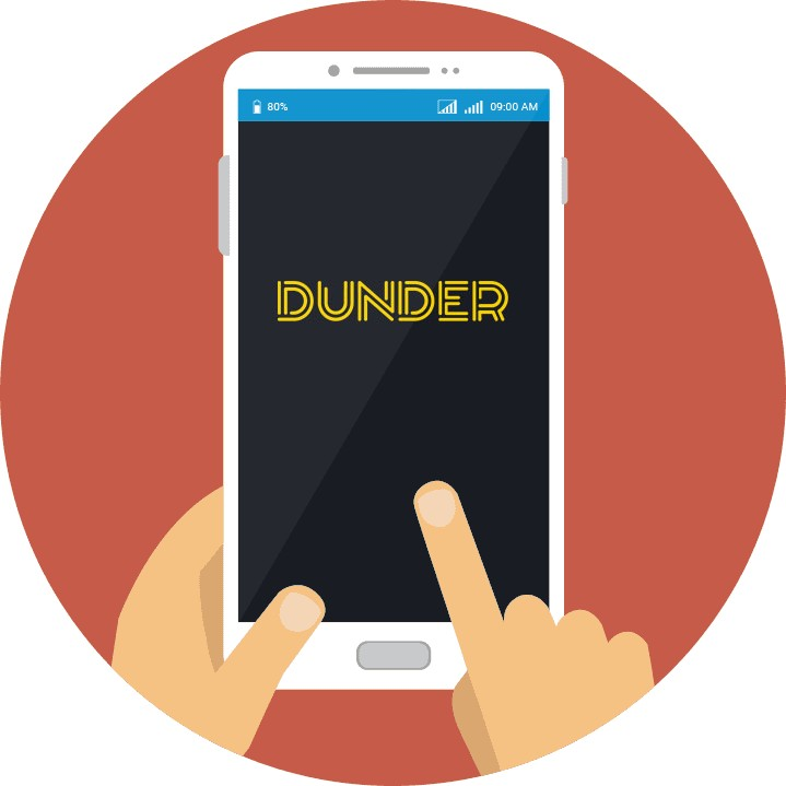 Dunder Casino - Mobile friendly
