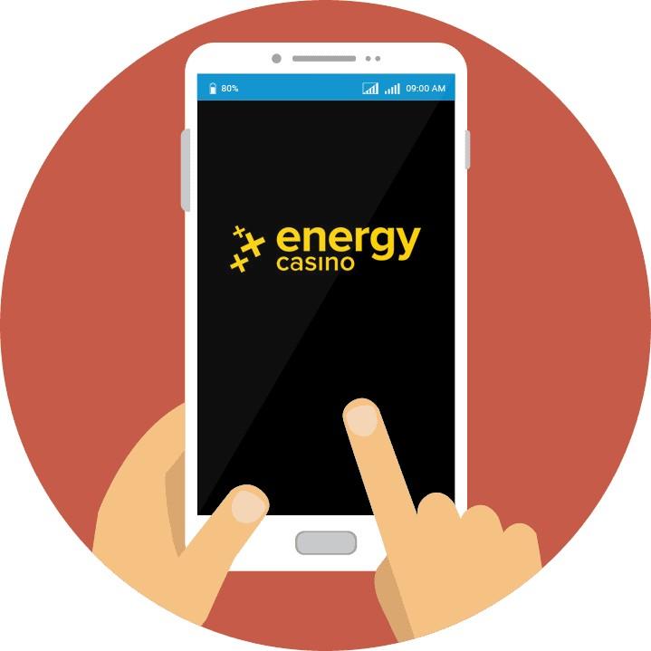 Energy Casino - Mobile friendly