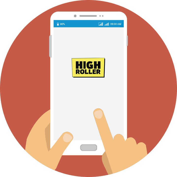 Highroller Casino - Mobile friendly