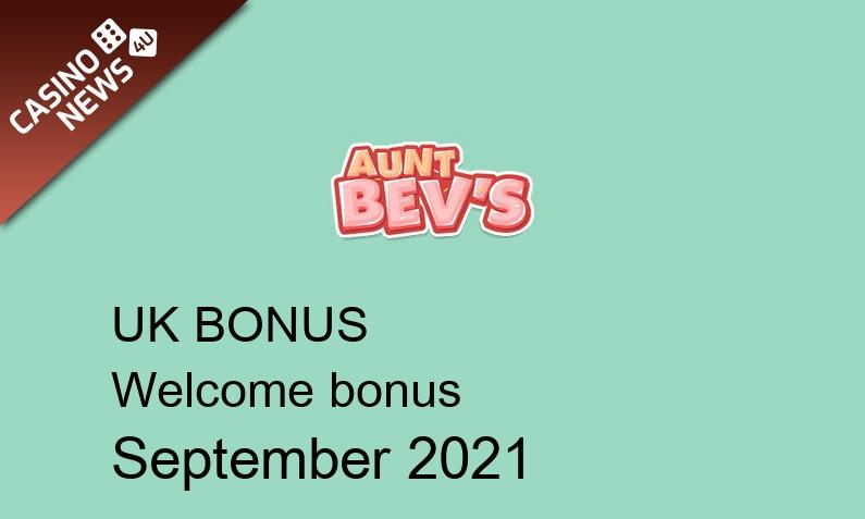 Latest Aunt Bevs Casino UK bonus spins, 20 bonus spins