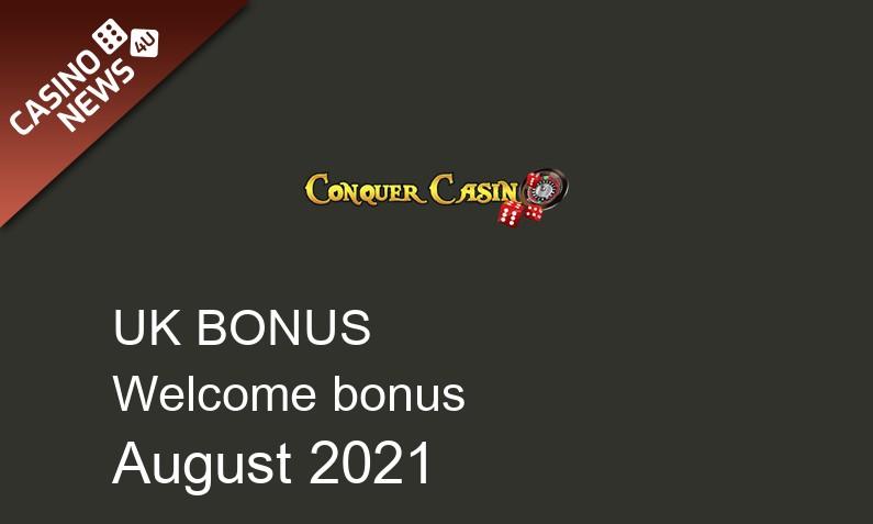 Latest Conquer Casino UK bonus spins, 15 bonus spins