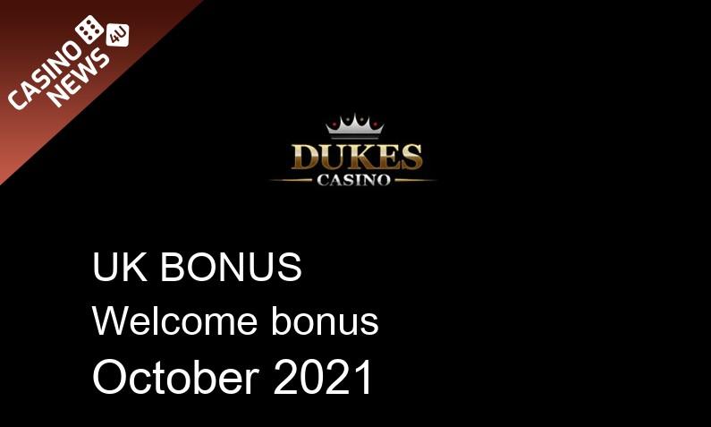 Latest DukesCasino UK bonus spins, 20 bonus spins