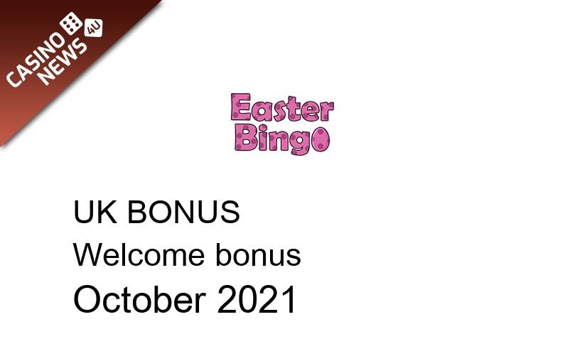 Latest Easter Bingo Casino bonus spins for UK players October 2021, 30 bonus spins