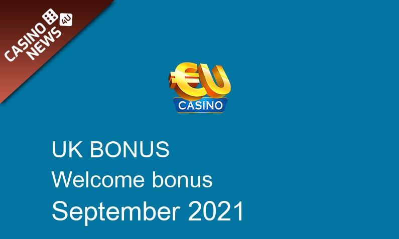 Latest EU Casino bonus spins for UK players September 2021, 100 bonus spins