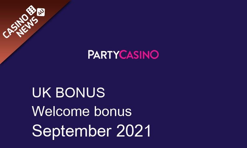 Latest PartyCasino UK bonus spins, 50 bonus spins