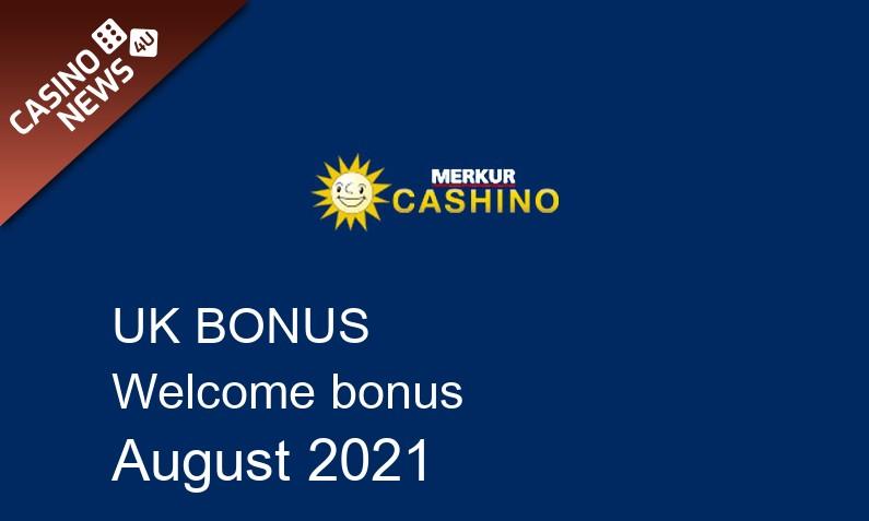 Latest UK bonus spins from Cashino August 2021, 40 bonus spins