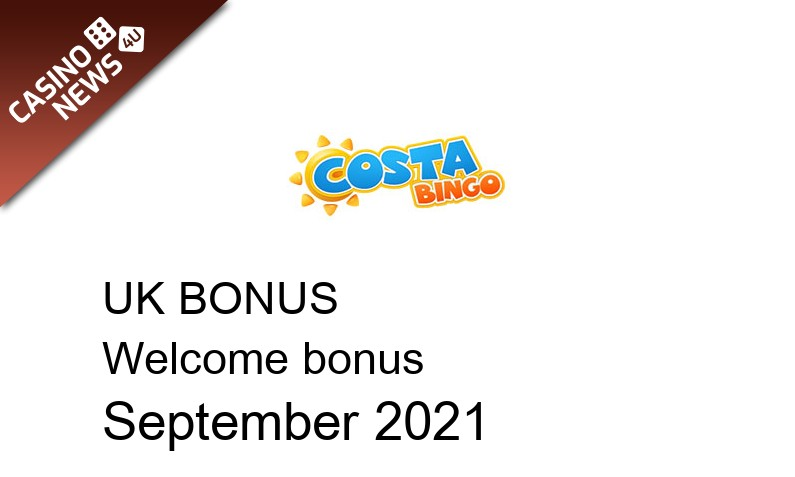 Latest UK bonus spins from Costa Bingo, 20 bonus spins