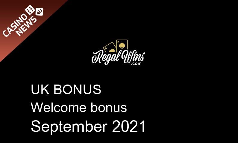 Latest UK bonus spins from Regal Wins