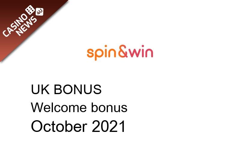 Latest UK bonus spins from Spin and Win Casino, 100 bonus spins