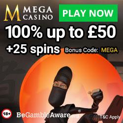 Latest bonus from Mega Casino